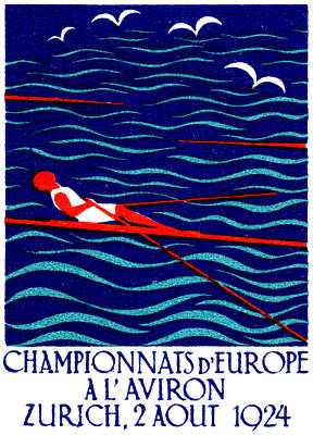 Painting - 1924 Zurich Rowing Poster by Historic Image