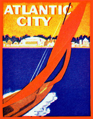 Painting - 1925 Atlantic City Poster by Historic Image