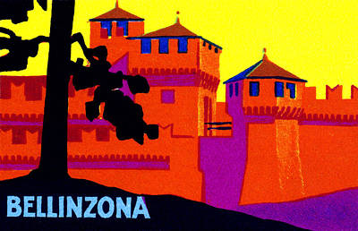 Bellinzona Painting - 1925 Bellizona Switzerland by Historic Image