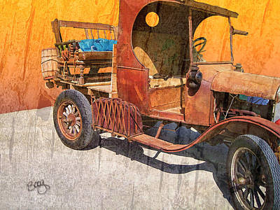 1925 Ford Truck Print by Larry Bishop