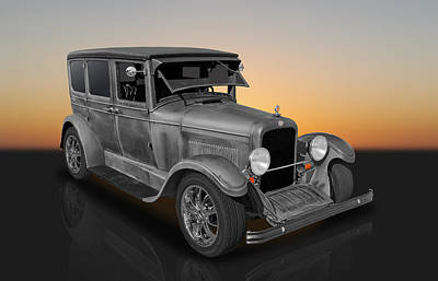 Photograph - 1925 Nash 4 Door Sedan by Frank J Benz