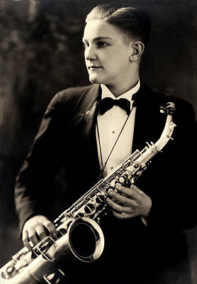 Photograph - 1925 Saxophone Musician by Historic Image