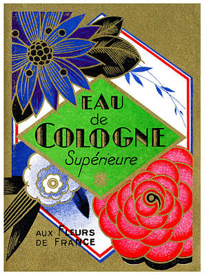 Painting - 1925 Superieure Flowers Of France Perfume by Historic Image