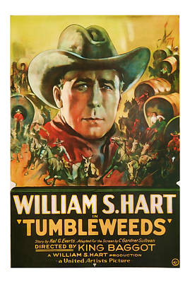 Excitement Mixed Media - 1925 Tumbleweeds Vintage Movie Art by Presented By American Classic Art