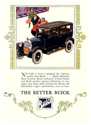 1926 - Buick Automobile Advertisement - Color Art Print