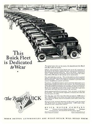 1926 - Buick Automobile Advertisement Art Print