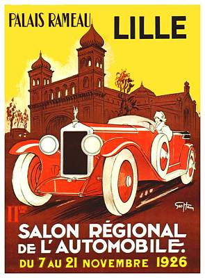11th Digital Art - 1926 - Lille Salon 11th Annual Poster - Color by John Madison