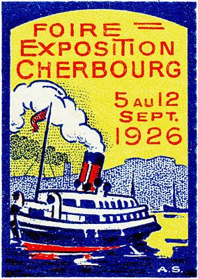 Painting - 1926 Cherbourg France Exposition by Historic Image