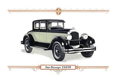 Digital Art - 1926 Chrysler Coupe by Walter Colvin
