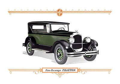 Digital Art - 1926 Chrysler Phaeton by Walter Colvin