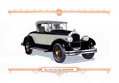 Digital Art - 1926 Chrysler Roadster by Walter Colvin