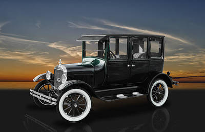Photograph - 1926 Ford Fordor Sedan Model T by Frank J Benz