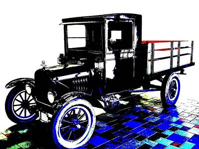 Digital Art - 1926 Ford Model T Stakebed by Will Borden