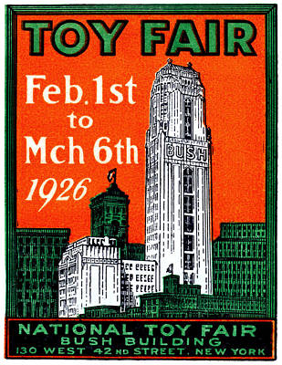 Painting - 1926 New York City Toy Fair Poster by Historic Image