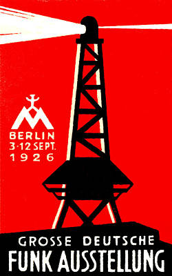 Berlin Germany Painting - 1926 Radio And Broadcasting Exhibit by Historic Image
