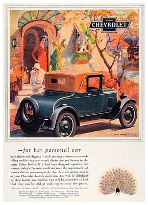 1927 - Chevrolet Advertisement - Color Art Print