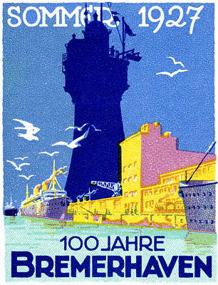 Painting - 1927 Bremerhaven Germany by Historic Image