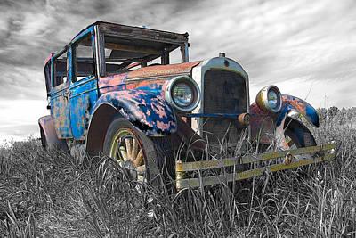 Abandoned Cars Photograph - 1927 Buick by John  Bartosik