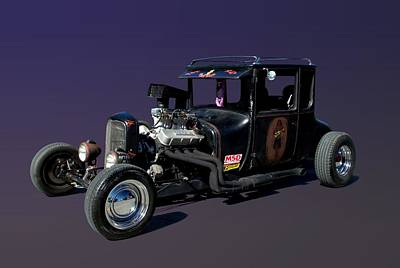 Photograph - 1927 Ford High Top Model T Rat Rod  by Tim McCullough