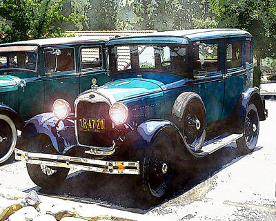 Photograph - 1927 Ford Lights On by William Havle
