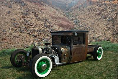 Photograph - 1927 Ford Model T Rat Rod Pickup by Tim McCullough