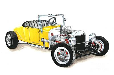 1927 Ford Roadster Art Print by Donald Koehler