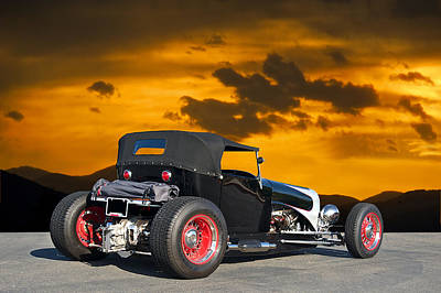 1927 Ford 't 4 2' Art Print by Dave Koontz
