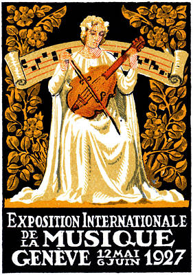 Painting - 1927 International Music Festival by Historic Image