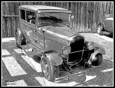 1927 Model T Ford Sedan Art Print by Glenn McCarthy Art and Photography