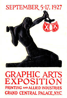 Painting - 1927 Nyc Graphic Arts Expo by Historic Image