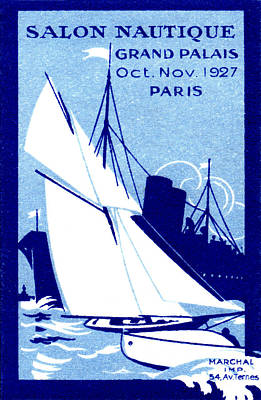 Painting - 1927 Paris Boat Show by Historic Image