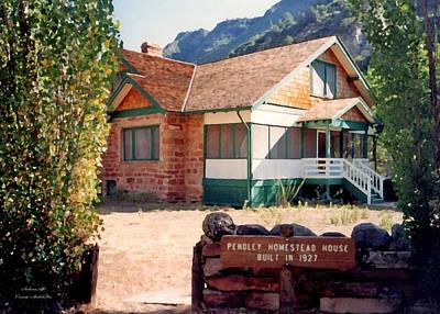 Photograph - 1927 Pendley Homestead House Sedona by Connie Fox