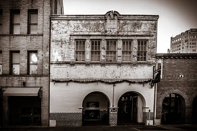 Photograph - 1927 Speir Building In Black And White by Melinda Ledsome