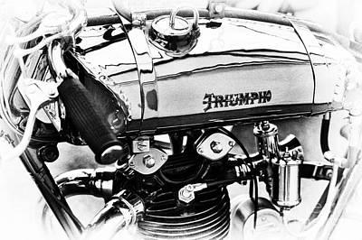 Photograph - 1927 Triumph Tt Racer Monochrome by Tim Gainey