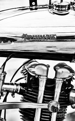 1927 Triumph Tt Racer Motorcycle  Art Print by Tim Gainey