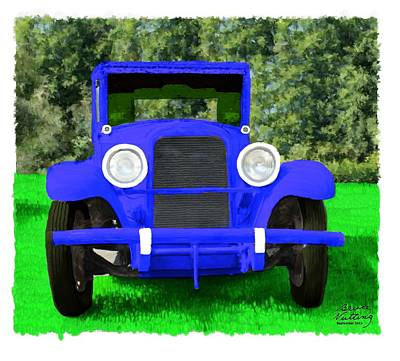 Keith Richards - 1928 Blue Car by Bruce Nutting