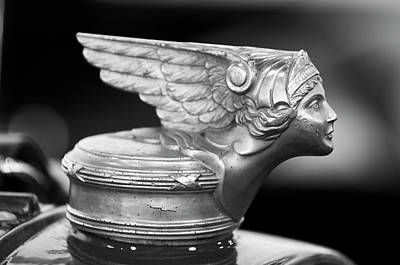 1928 Buick Custom Speedster Hood Ornament 3 Art Print by Jill Reger