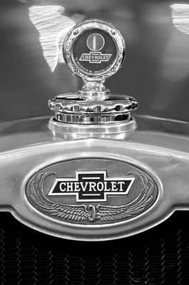 1928 Chevrolet 2 Door Coupe Hood Ornament Moto Meter Art Print by Jill Reger