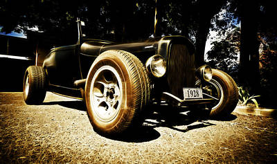1928 Ford Model A Rod Art Print by Phil 'motography' Clark