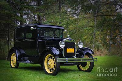 Photograph - 1928 Ford Model A Tudor by Davandra Cribbie