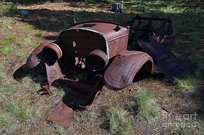 Photograph - 1928 Model A Ford Rusty Remnants Poster Edges by Shawn O'Brien