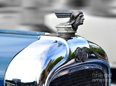 Photograph - 1928 Pontiac Hood Ornament And Badge by Kaye Menner
