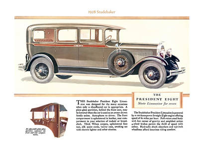 Digital Art - 1928 Studebaker by Walter Colvin