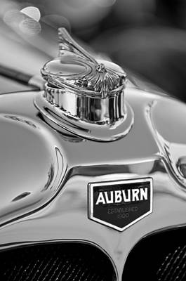Hoodies Photograph - 1929 Auburn 8-90 Speedster Hood Ornament 2 by Jill Reger