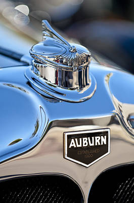 Hoodies Photograph - 1929 Auburn 8-90 Speedster Hood Ornament by Jill Reger