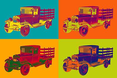 Photograph - 1929 Blue Chevy Truck 1 Ton Pop Art by Keith Webber Jr