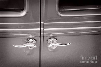 Photograph - 1929 Chevrolet Classic Car Automobile Door Handles Sepia  3129.0 by M K  Miller