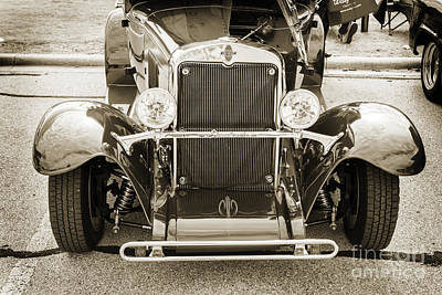 Photograph - 1929 Chevrolet Classic Car Automobile Front End Sepia  3126.01 by M K Miller