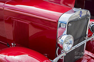 Photograph - 1929 Chevrolet Classic Car Automobile Front Fender Color  3127.0 by M K  Miller