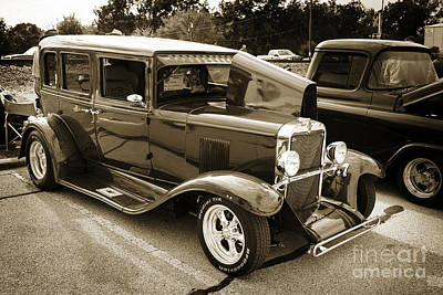 Photograph - 1929 Chevrolet Classic Car Automobile Sepia 3132.01 by M K  Miller